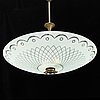 A ceiling lamp ca 1940's, possibly orrefors.