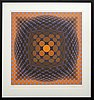 Victor vasarely, serigraph in colours singed and numbered 7/250.