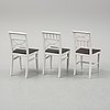 A mixed lot of six similar 19th century painted chairs.