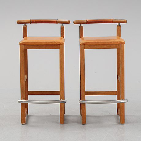 A pair of 1980's bar stools.