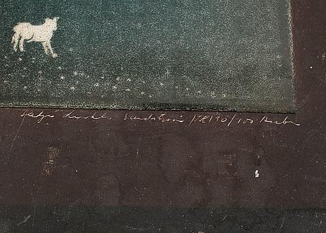 Heljä liukko-sundström, two ceramic wall plaques, arabia, finland-.