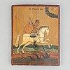 Ikon, tempera på pannå, ryssland, 1800-tal.