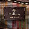 """Mulberry, a """"medium clipper"""" weekend bag."""