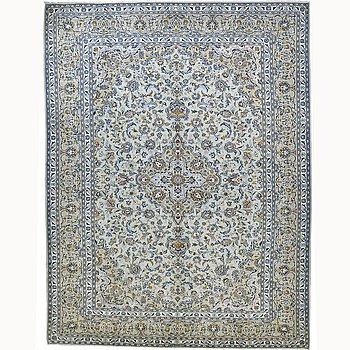 A carpet, Kashan 401 x 305 cm.