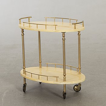 Aldo Tura, a 1950/60s serving trolley.