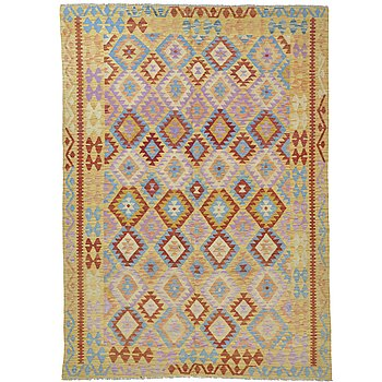 A rug, kilim, ca 253 x 184 cm.
