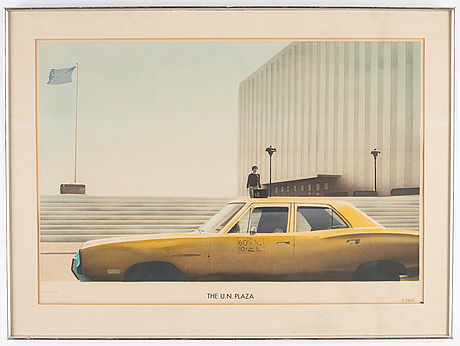 Paul staiger, lithograph in color, signed and numbered 164/300.