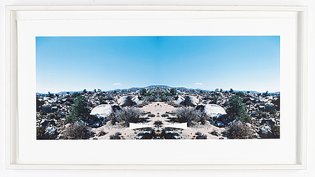 Ed ruscha, pigmented inkjet graphic, signed and numbered 17/35, 2003.
