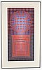 Victor vasarely, silkscreen in color, signed and numbered 156/190.
