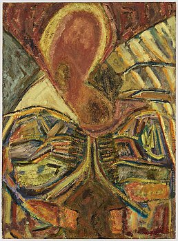 Margrit Lewczuk, oil on canvas, signed and dated 1985 on verso.