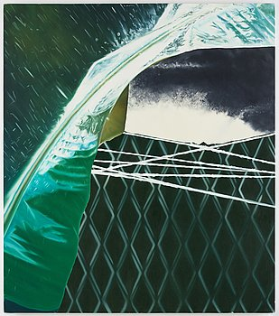 Christine Keefe, acrylic on canvas, signed and dated -88 verso.