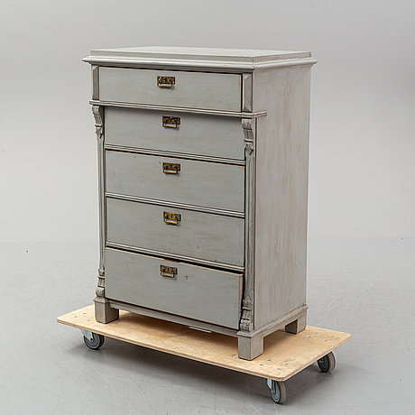 A renaissance revival chest of drawers, late 19th-century.