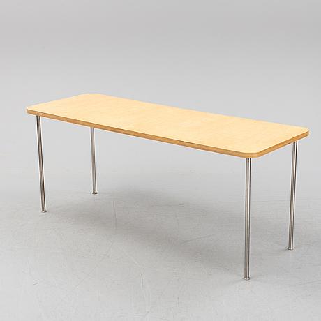 Jasper morrison, a seven-piece birch dining suite, 'ply chair/open back', vitra, 1988-89.