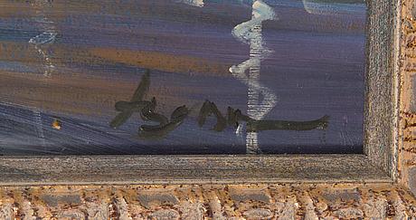Chingiz arif oglu abassov, oil on panel, signed.
