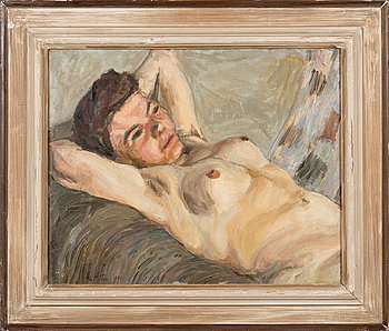 Åke Mattas, oil on board, signed and dated-41.