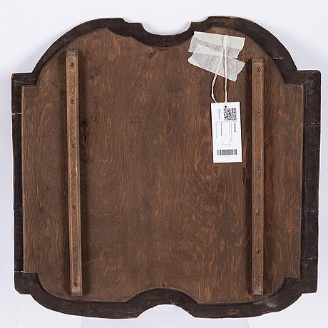Svensk konstnär 1700-tal. målning till en vagn/droska. 54,5 x 54 cm.