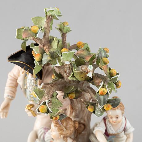 Figurin, meissen, 1800-talets andra hälft.
