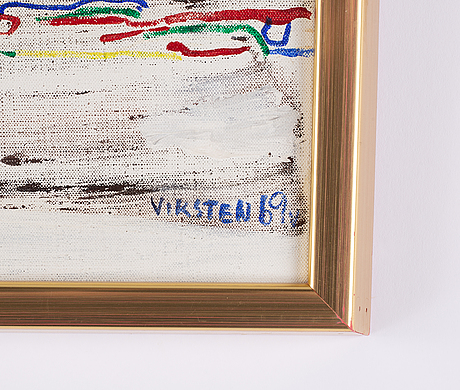 Hans viksten, oil on canvas, signed and dated -69.