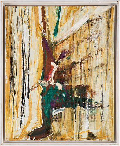 Rune jansson, oil on canvas, signed and dated -59.