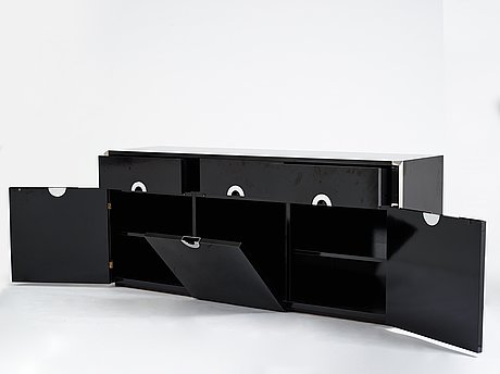 Willy rizzo, a sideboard for mario sabbot, italy 1970's.