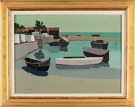 Pierre palué, oil on canvas, signed.