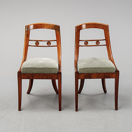 A set of six empire chairs, first half of the 19th century.
