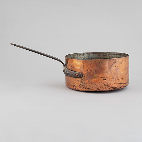 A swedish 18th century copper cooking pot,