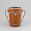 A wood and silver champagne cooler, turku, finland, 1956.