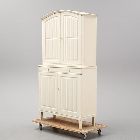 "Carl malmsten, a painted ""herrgården' cabinet, bodafors."