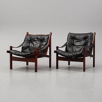 Torbjørn Afdal, a pair of 'Hunter' armchairs from Bruksbo Norway.