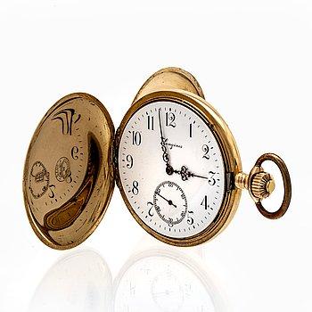 Longines, pocket watch, hunter, 52 mm.