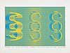 Sture johannesson, silkscreen in colours, 1974, signed 97/100.