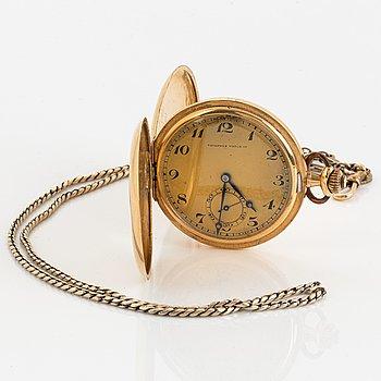 Tavannes Watch, pocket watch, hunter, 49 mm.