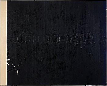 Alf Linder, oil on canvas.