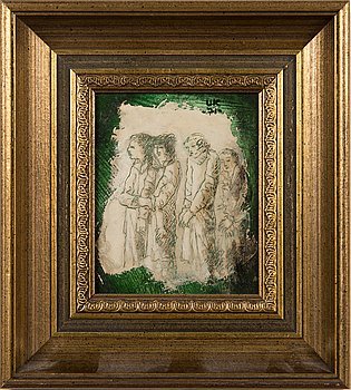 Unto Koistinen, oil on board, signed and dated 1975.