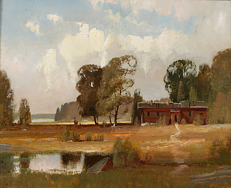 Wille salonen, oil on canvas, signed and dated -53.