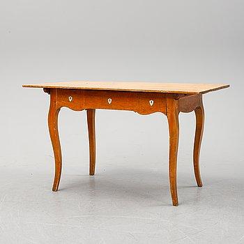 A birch Rococo style desk, second half of the 19th Century.