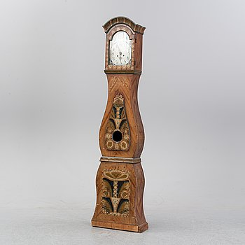 A Swedish longcase clock, dated 1857.