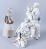 Figuriner, 3 st, porslin, lladro.