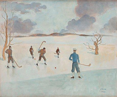 Einar jolin, bandy players.