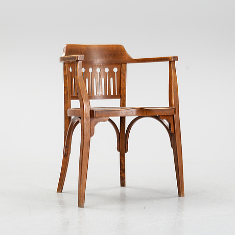 Otto wagner, attributed to. an armchair, austria, early 20th century.