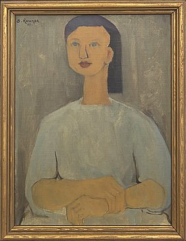 Josef Kowner, oil on panel signed and dated 57.