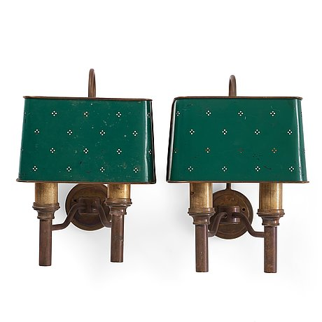Hans-agne jakobsson, a pair of wall lamps, hans agne jakobsson ab, markaryd, 1950's-60's.