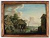 Johan philip korn, tillskrivna, ett par, olja på pannå.