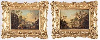 Johan Philip Korn, a pair, oil on panel.