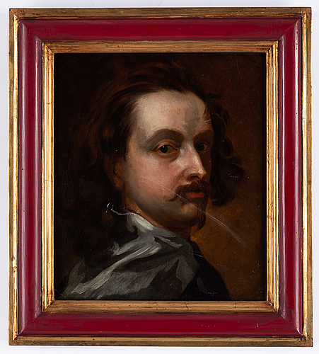 Antonis van dyck, copy after, 19th century, oil on åpaper-panel.