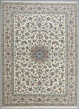A carpet, Nain part silk, sk 9LAA, ca  396 x 289 cm.