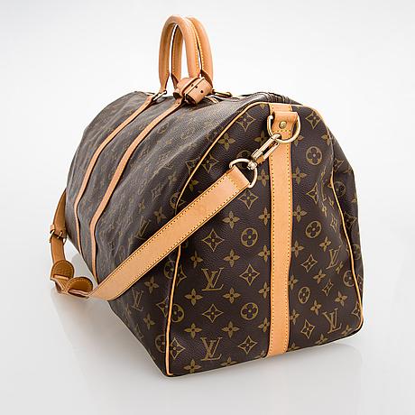 Louis vuitton, a monogram 'keepall 55 bandoulière' weekend bag.