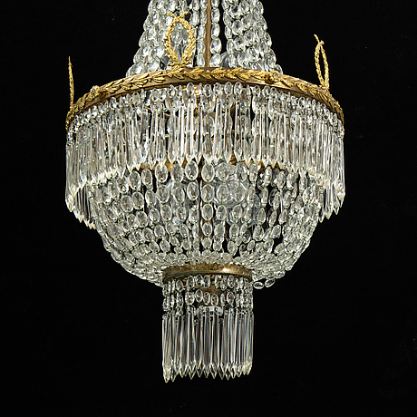 An empire-style ceiling lamp, first half of the 20th century.