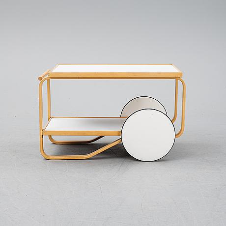 Alvar aalto, a birch drinks trolley model 901, artek, finland.